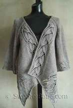 photo of #112 Dramatic Lace Wrap (Top-Down) Cardigan PDF Knitting Pattern