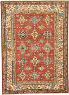 Rust Red 4' 9 x 6' 7 Kazak Oriental Rug | Oriental Rugs | iRugs UK