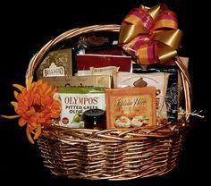 Seasonal Decorated Gourmet Gift Basket designed for Wellington Florist. Barber Gifts, Gourmet Gift Baskets, Pitted Olives, Hampers, Herbs, Fruit, Herb, Medicinal Plants