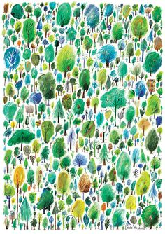 500 Trees Giclee print by LauraAHughes on Etsy