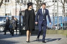 Crown Prince Frederik and Mary of Denmark attend the funeral of family friend Peter Heering.3/16/2015