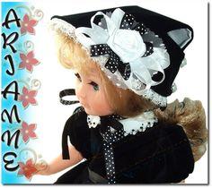 Chapeau pour poupée MODES ET TRAVAUX Marie-Françoise ou poupée ancienne 37-40 cm