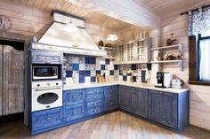 Деревянная кухня в стиле кантри - Дизайн интерьеров | Идеи вашего дома | Lodgers