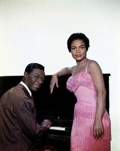 Nat King Cole and Eartha Kitt: look at all that negative space for some fine looking hats....