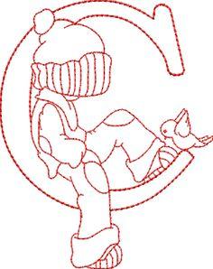 Escuela infantil castillo de Blanca: ALFABETO PARA COLOREAR Embroidery Alphabet, Sashiko Embroidery, Hand Embroidery Stitches, Machine Embroidery Designs, Sunbonnet Sue, Cross Stitch Letters, Doodle Coloring, Alphabet Design, Sewing Projects For Beginners