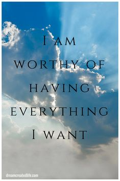 I am worthy of having everything I want. - Quote Positivity - Positive quote - I am worthy of having everything I want. The post I am worthy of having everything I want. appeared first on Gag Dad. Affirmations Positives, Wealth Affirmations, Morning Affirmations, Law Of Attraction Affirmations, Law Of Attraction Quotes, Positive Thoughts, Positive Vibes, Positive Quotes, I Am Worthy