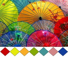paper umbrellas source: Imandrah-land (color id: Pantone, by leaff)