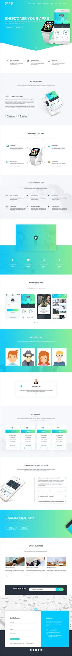 Appai is clean and modern design responsive #WordPress theme for #app landing page website with 10+ unique homepage layouts download now..