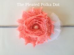 Shabby Flower with Decorative White Tool and by ThePleatedPolkaDot, $6.00