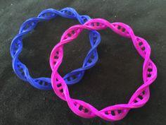 DNA Bracelet in Blue Strong & Flexible Polished