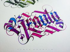 Gothic Calligraphy Art (by Tamer Ghoneim) Gothic Lettering, Gothic Fonts, Graffiti Lettering, Beautiful Fonts, Calligraphy Art, Landscape Photographers, Letters, Fine Art, Writing