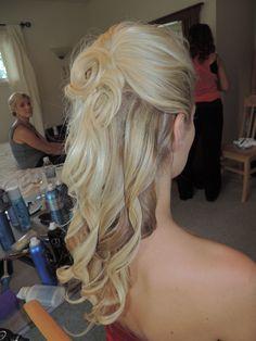 carrie's bridal hair, half up half down, hairbymissy.net