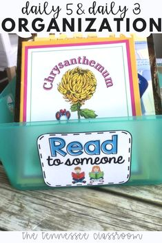 Resource to plan, organize, and manage daily 5 or math daily 3 in your classroom. Math Center Organization, Classroom Organization, Classroom Management, Reading Fluency, Teaching Reading, Classroom Fun, Classroom Activities, 2nd Grade Ela, Second Grade