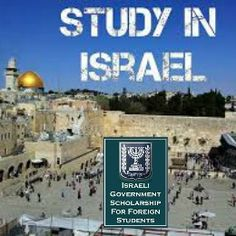 Israeli Government Scholarships for Foreign Students , and application should be submitted till November 30 each . Applications are invited forIsraeli GovernmentScholarships available for foreign students in Israel. The applicant must hold a BA or BSc degree (or higher) and have a good record of academic achievement.Different types of scholarships are offered summer language courses (Ulpan) and one academic year orResearchscholarships.