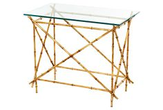 gold bamboo accent table