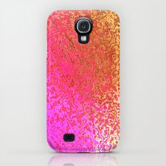Samsung Galaxy S4 Case Purple Gold Art Pattern