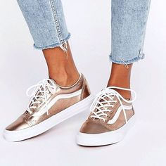 "Tendance Chausseurs Femme 2017 Description Sneakers women - Vans Old Skool ""rose gold"" (©asos)"