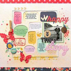 #papercraft #scrapbook #layout    Silhouette Blog