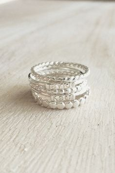 Name Stackers .925 Sterling Silver