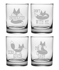 Look at this #zulilyfind! 'Infoxicated' Rocks Glass - Set of Four #zulilyfinds