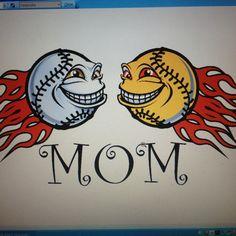 Baseball and softball mom! This is so me.. :) love my ball players..