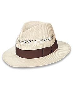Tommy Bahama - Two-Tone Packable Toyo Hat ed73eea02b81