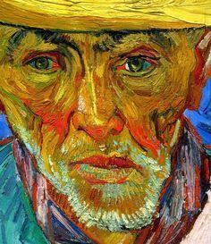 Impasto Portraiture History - Vincent van Gogh, Portrait of a Peasant (Patience Escalier), detail (by Vincent Van Gogh, Van Gogh Arte, Theo Van Gogh, Van Gogh Portraits, Artist Van Gogh, Instalation Art, Van Gogh Paintings, Art Van, Dutch Painters