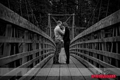 A quiet moment for the couple who I had a blast hanging out with. Their wedding is going to be just as fun. #engagement #portrait #spokane #washington #couple #bridge