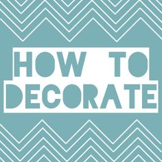 how to decorate-by style, by color, by room, etc. Great resource!