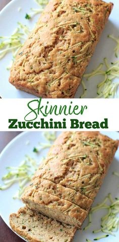 Zucchini Bread - made with applesauce and less sugar so you don't feel as much guilt for that second or third slice.Skinnier Zucchini Bread - made with applesauce and less sugar so you don't feel as much guilt for that second or third slice. Zucchini Bread Muffins, Gluten Free Zucchini Bread, Zucchini Bread Recipes, Banana Bread Recipes, Weight Watchers Zucchini Bread Recipe, Banana Zucchini Bread Healthy, Zucchini Desserts, Zucchini Hummus, Grilled Zucchini