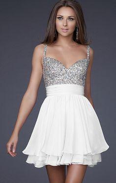 White Graduation Dress  www.simplydresses.com