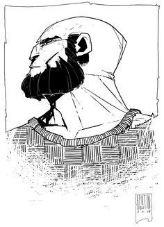 A man with a beard by PatBoutin.deviantart.com on @deviantART