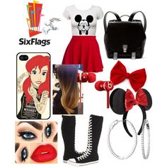 Liz Six Flags Outfit