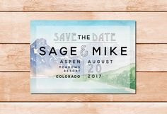 Colorado Wedding Save the Date  Colorado by KaitlynStoneDesign