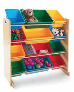 Toys stay neat with this 12 bin organizer... My daughter has this organizer and it's wonderful