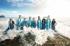 Blue Wedding Outfits by http://www.RedPaisleys.com/ #Dallas from their Twitter @RedPaisleys in @ShaadiMagazine Org by @KISCubed @nadiadphoto