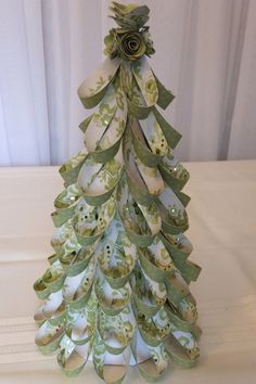 Green White Gold St Patrick's Day Paper Loop Table Top Tree Decoration. $23 USD Have a theme or color in mind? Call today to have it custom made!