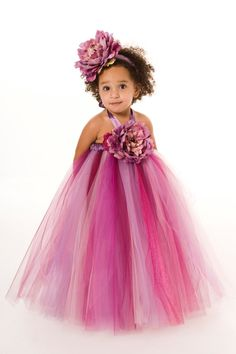 Flower Girl Tutu Dress  Purple  Sugar by Cutiepatootiedesignz, $55.00