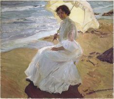 The Clothilde at the Beach painting originally painted by Joaquin Sorolla y Bastida can be yours today. All reproductions are hand painted by talented artists. Free Shipping.