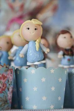 Cupcake da Elsa, personagem de Frozen.