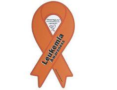 Ribbon Awareness Car Magnet - Leukemia (Orange)
