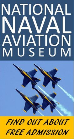 """National Naval Aviation Museum in Pensacola, Florida is a great place to stop for a """"leg-stretcher"""" during your Florida family road trip.  The kids, especially the boys, will love seeing the Navy aircraft, medals, uniforms and so much more. The admission price can't be beat, FREE!"""