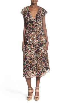 Wayf Floral Midi Dress available at #Nordstrom