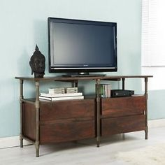 Urban Chic Industrial style 4 Drawer TV Cabinet unit
