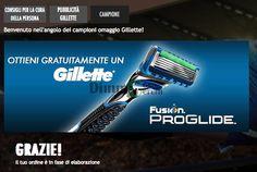 Campione omaggio rasoio Gilette Fusion Proglide