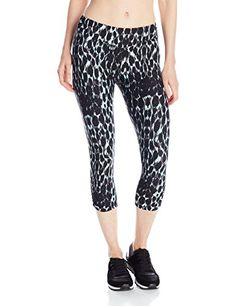 23c33613707 Kensie Performance Womens Lynx Print Crop Legging Seaglass Combo Small     See this great product.(This is an Amazon affiliate link and I receive a ...
