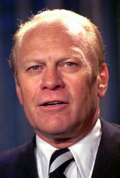 Gerald Rudolph Ford: 38th President of the United States {1974 - 1977} born Leslie Lynch King Jr. Became Vice President when Spiro Agnew resigned, then became President when Richard Nixon resigned. Pardoned Nixon from prosecution connected with the Watergate Scandal. First Lady: Betty Bloomer Warren