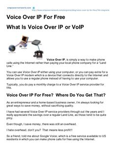 Voice Over IP for free by Manifesting Prosperity Marketing via Slideshare