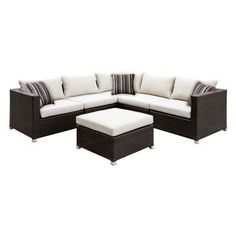 carla modern patio sectional with side tables ivory furniture