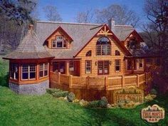 ~ Citadel Collection ~ True North Log Homes Log Cabin Living, Log Cabin Homes, Log Cabins, Log Home Plans, House Plans, Living Pool, Log Home Designs, Cabins And Cottages, Logs